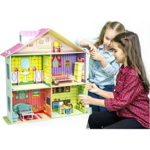 Diytoy Rose Doll House My Sweet Home Big Doll House Play House недорого
