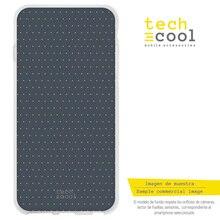 FunnyTech®Coque en Silicone pour Iphone 7 / 8 jaune à pois fond gris