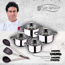 Ustensiles de cuisine 8 pièces en inox avec couteaux et ustensiles de cuisine SAN IGNACIO Premium
