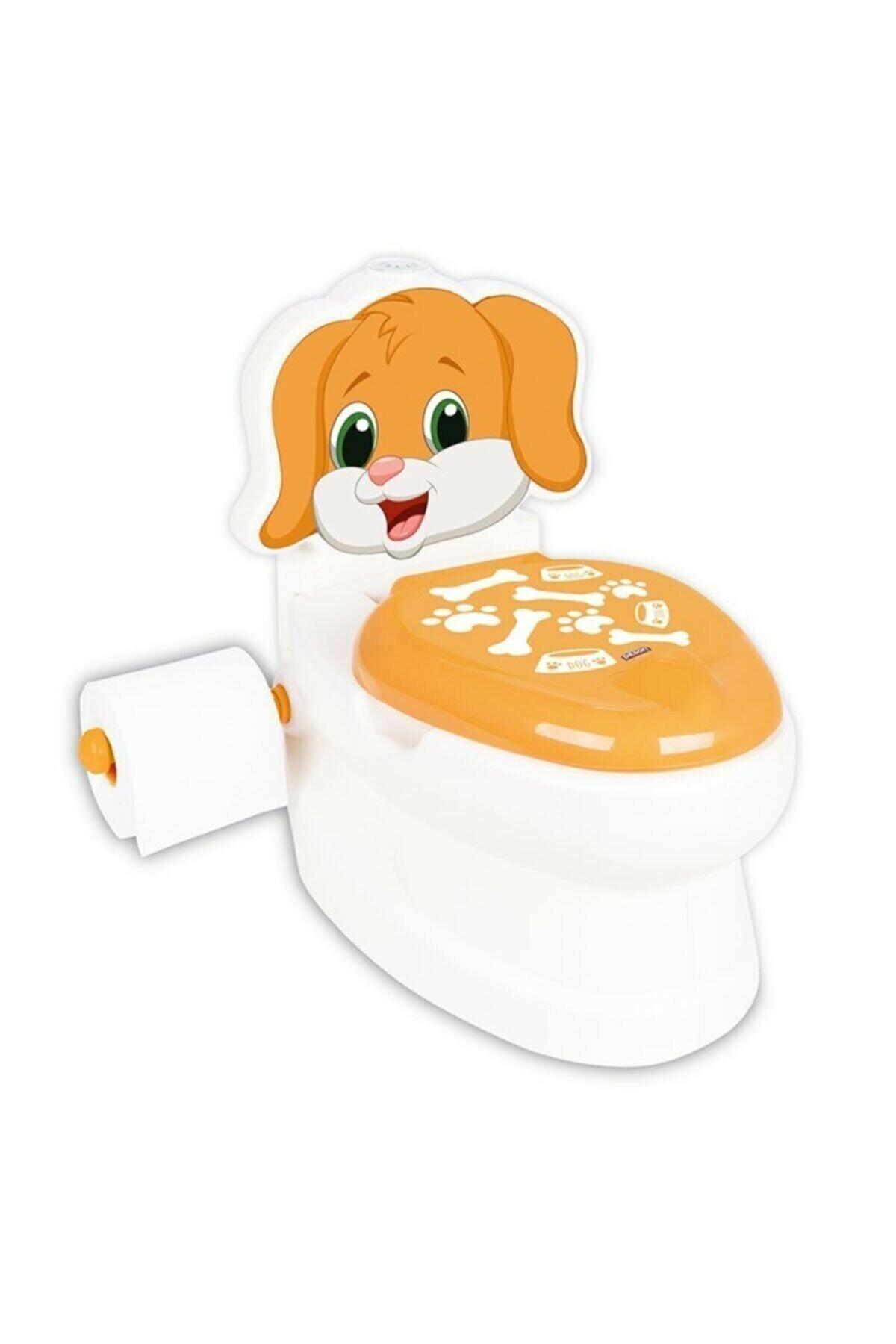Baby Child Toilet Training Dog Printed Educational Toilet Seat Toilet Paper Holder 25 Kg Loading Capacity