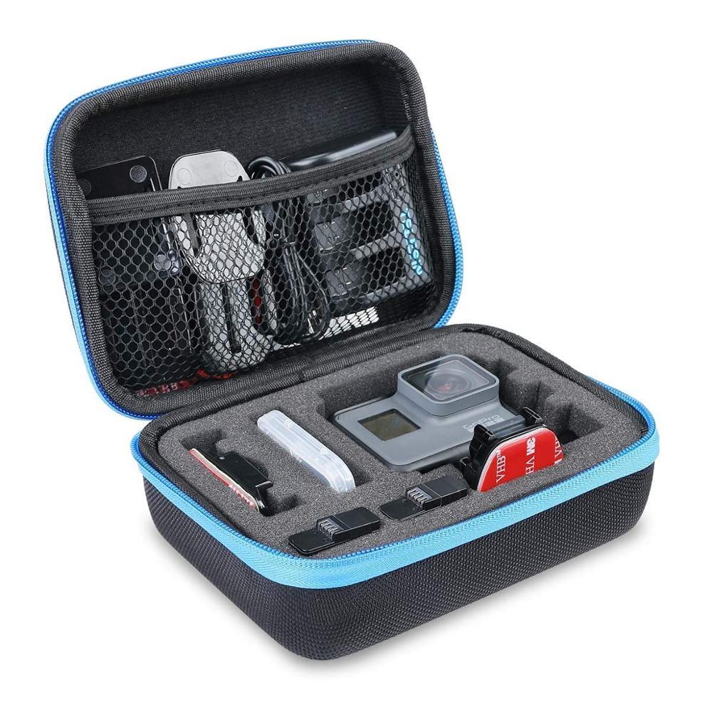 Cámara deportiva AFAITH, bolsa de almacenamiento antigolpes, funda protectora negra resistente, funda de almacenamiento para accesorios GoPro Hero