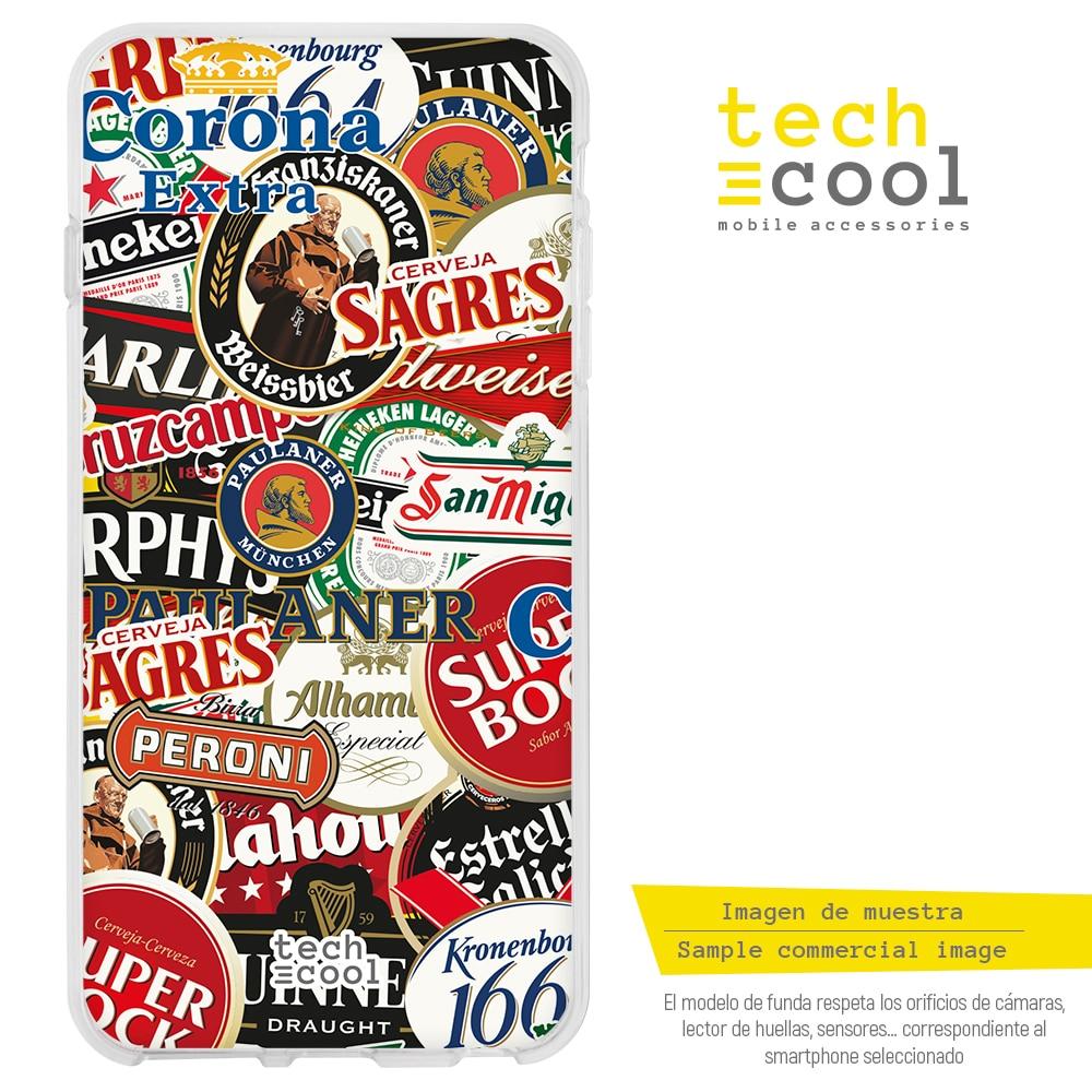 FunnyTech® Funda Alcatel 1S (2020) l Logos cervezas