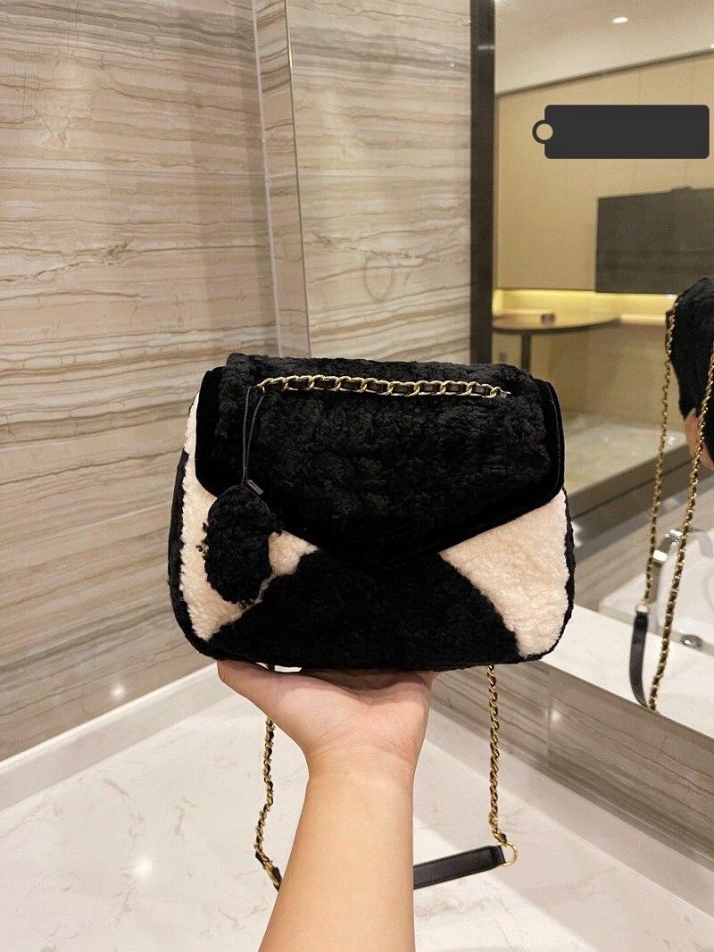 Женская сумка Тедди, флисовая сумка, сумка через плечо, меховая сумка, модная сумка мишка тедди, роскошная женская сумка, дизайнерская сумка ...
