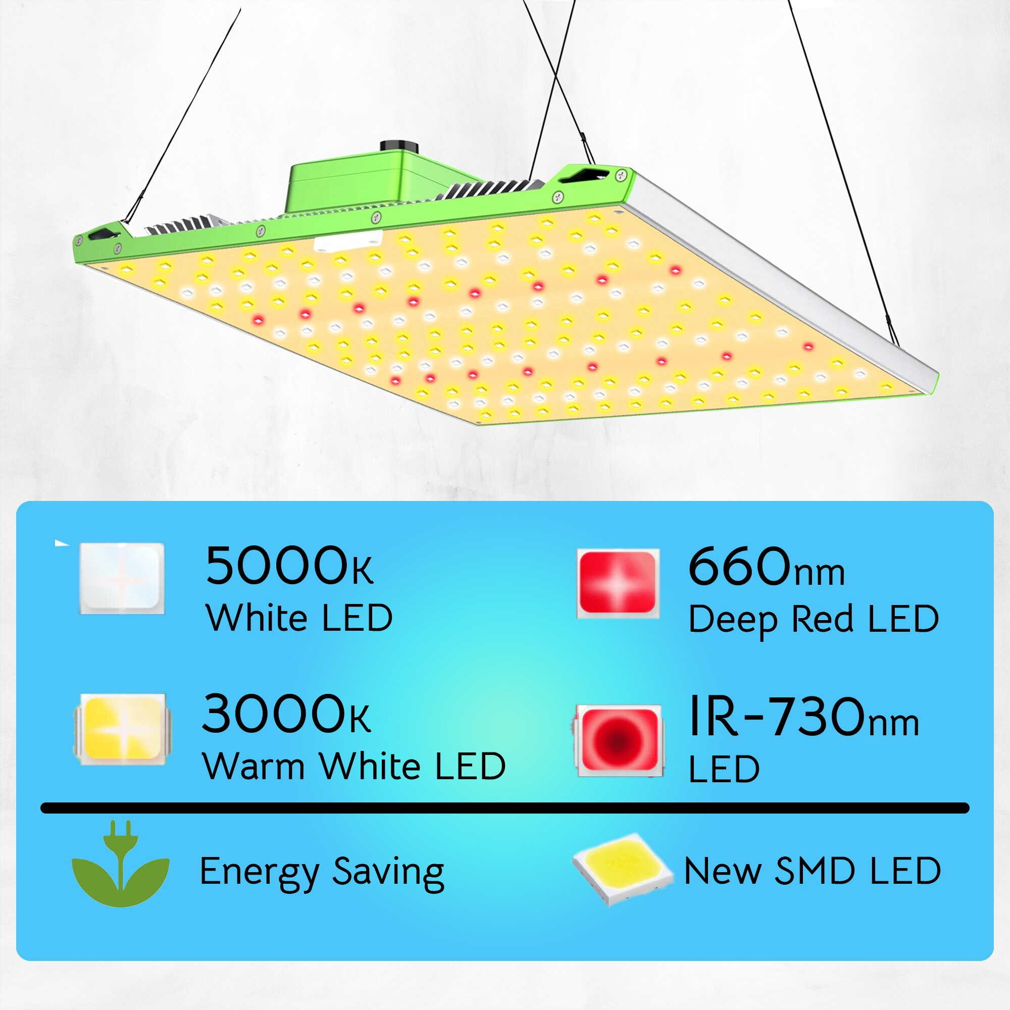 ZFR GROW LED, full spectrum 1000W Dimmable Lights Full Spectrum for Indoor Plants Seedling Veg and Bloom Plant Growing Lights enlarge
