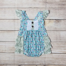 Summer Baby Girl Rompers Newborn Baby Clothes Toddler Flare Sleeve Solid Lace Design Romper Jumpsuit