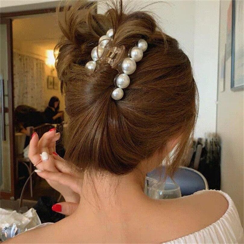 Akril hajkarom klipek nagy méretű, nagy gyöngyökkel, smink és - Ruházati kiegészítők - Fénykép 2