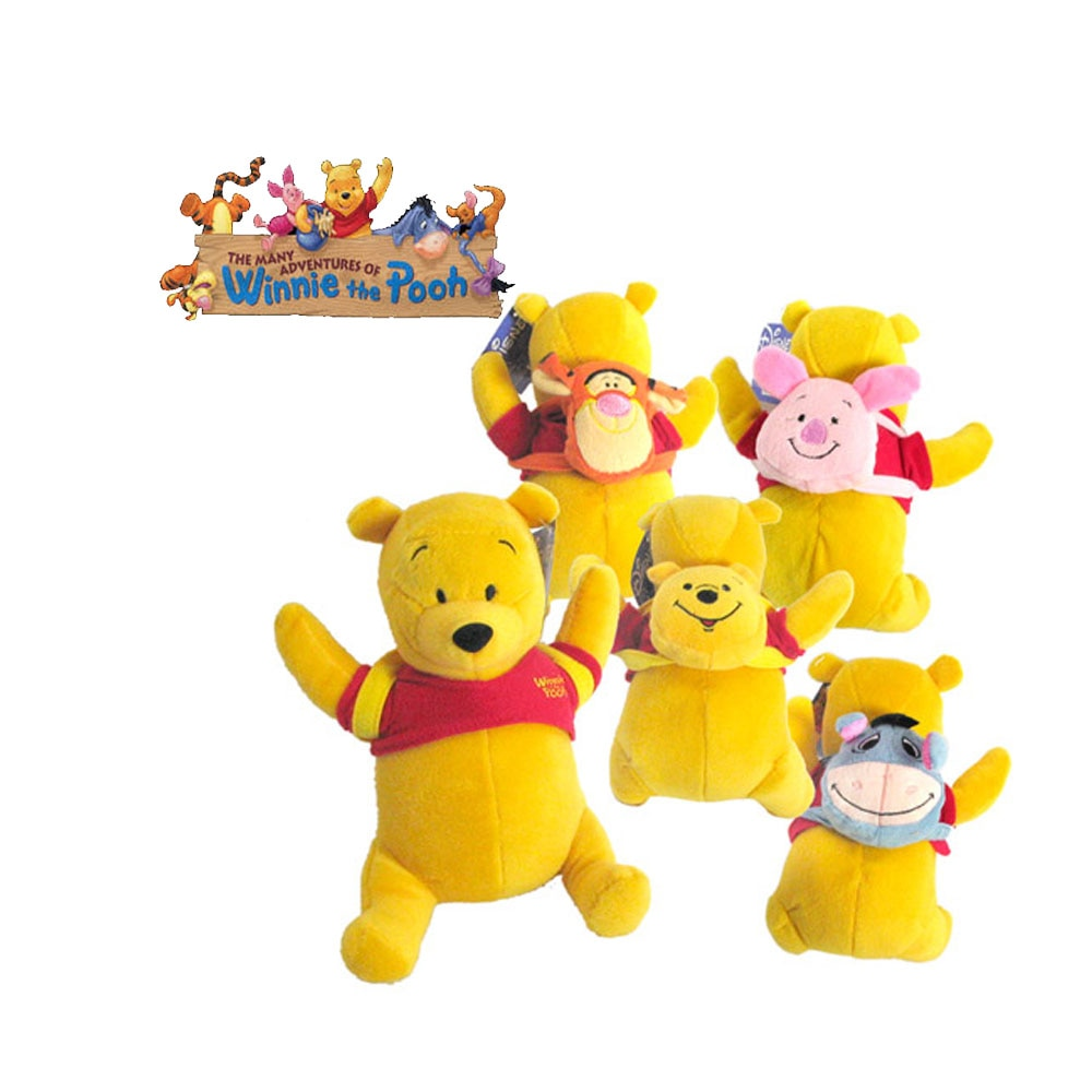 Winnie o pooh teddy mochila 4 modelo 20 cm pode remover mochila e roupas