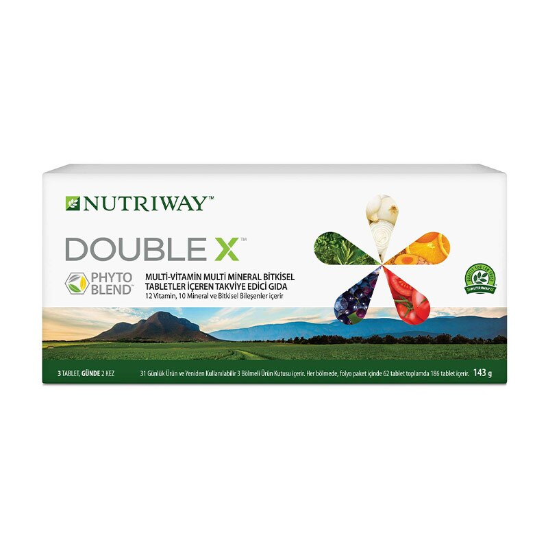 Double X Standart Pack NUTRIWAY™ 12 Essential Vitamins 10 Essential Minerals and Valuable Phytonutrients 372 Tablets Tablets