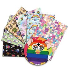 Furby DIY handmade sewing patchwork quilting baby dress home sheet 140cm printed fabric fabric sewin