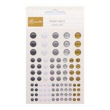Pegatinas de resina epoxi con puntos esmaltados, autoadhesivas, para manualidades, adornos, álbum de recortes, decoración de tarjetas