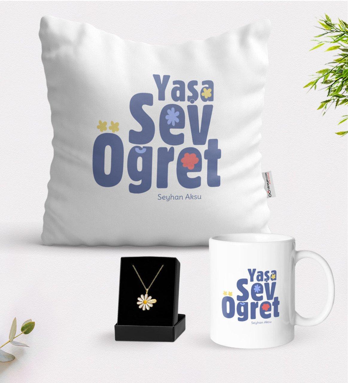 شخصية العمر الحب تعليم الأبيض القدح وسادة و هو ديزي قلادة هدية Seti-2