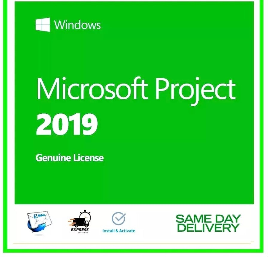 Microsoft Project 2019 Professional Digital Licence Key 32/64Bit Global All Languages� ��1 Minutes Delivery