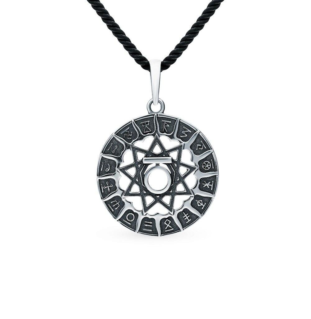 "Colgante de plata-amuleto ""oso chertog"" luz del sol muestra 925 prueba"