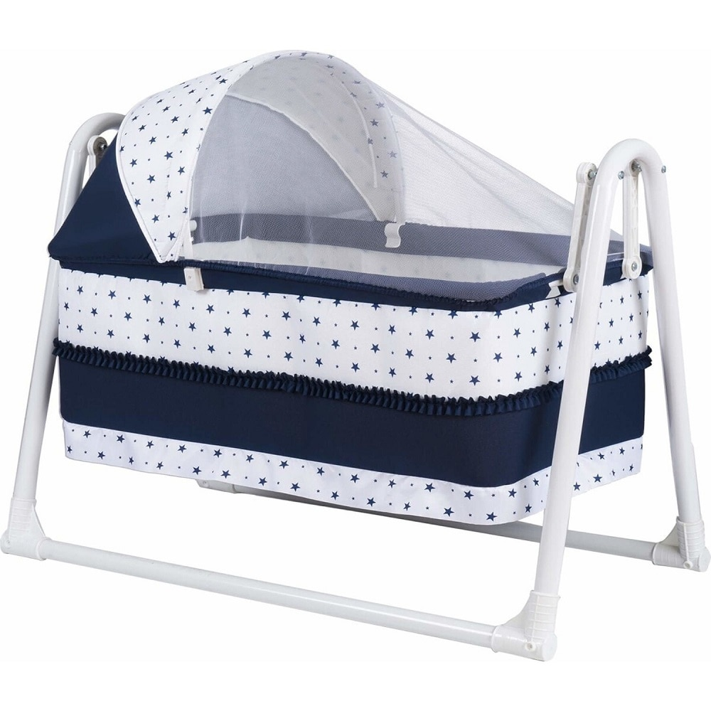 Luxury Baby Bed Basket Portable Cradle Crib Rocking Hanging Bassinet Mosquito net included DB