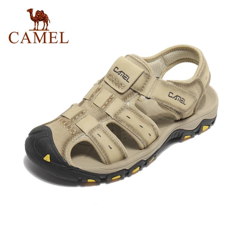 الجمل موضة مريحة لينة الروماني المصارع الصنادل الجلدية حقيقية الرجال Beathable في الهواء الطلق المشي لمسافات طويلة الصيف الأحذية