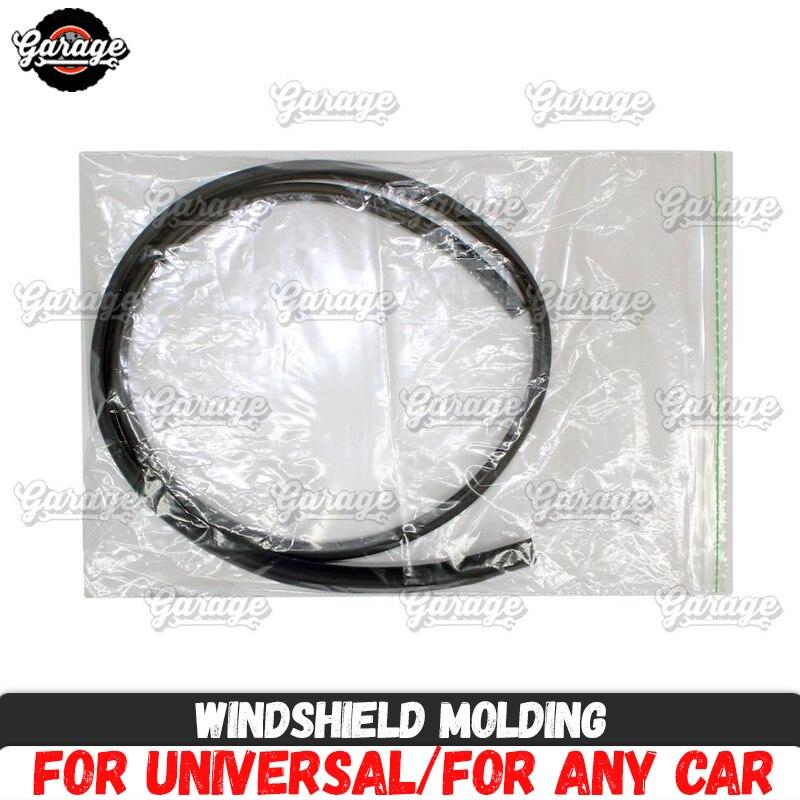 Moldura de parabrisas para Lada Largus 2011-material almohadilla deflectora de goma, accesorios protectores contra daños, ajuste de estilo de coche