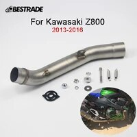for kawasaki z800 2013 2016 motorcycle exhaust connection link tube middle mid pipe stainless steel slip on 51mm muffler pipe