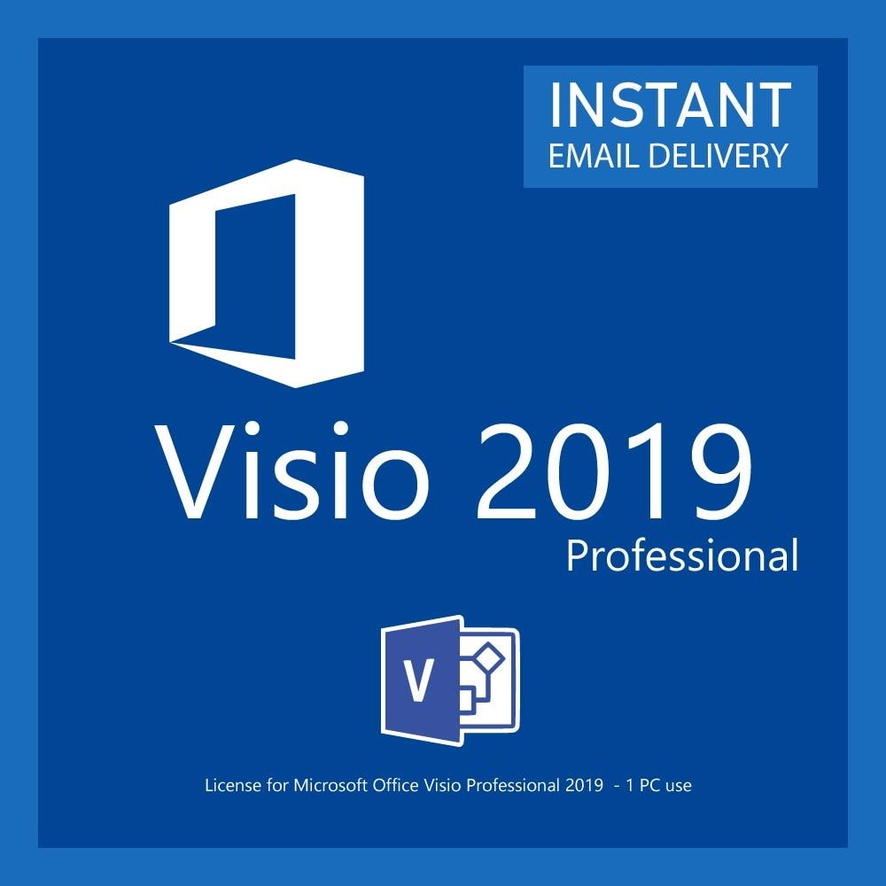 Microsoft Visio 2019 Professional Digital Licence 32/64 Bit Download