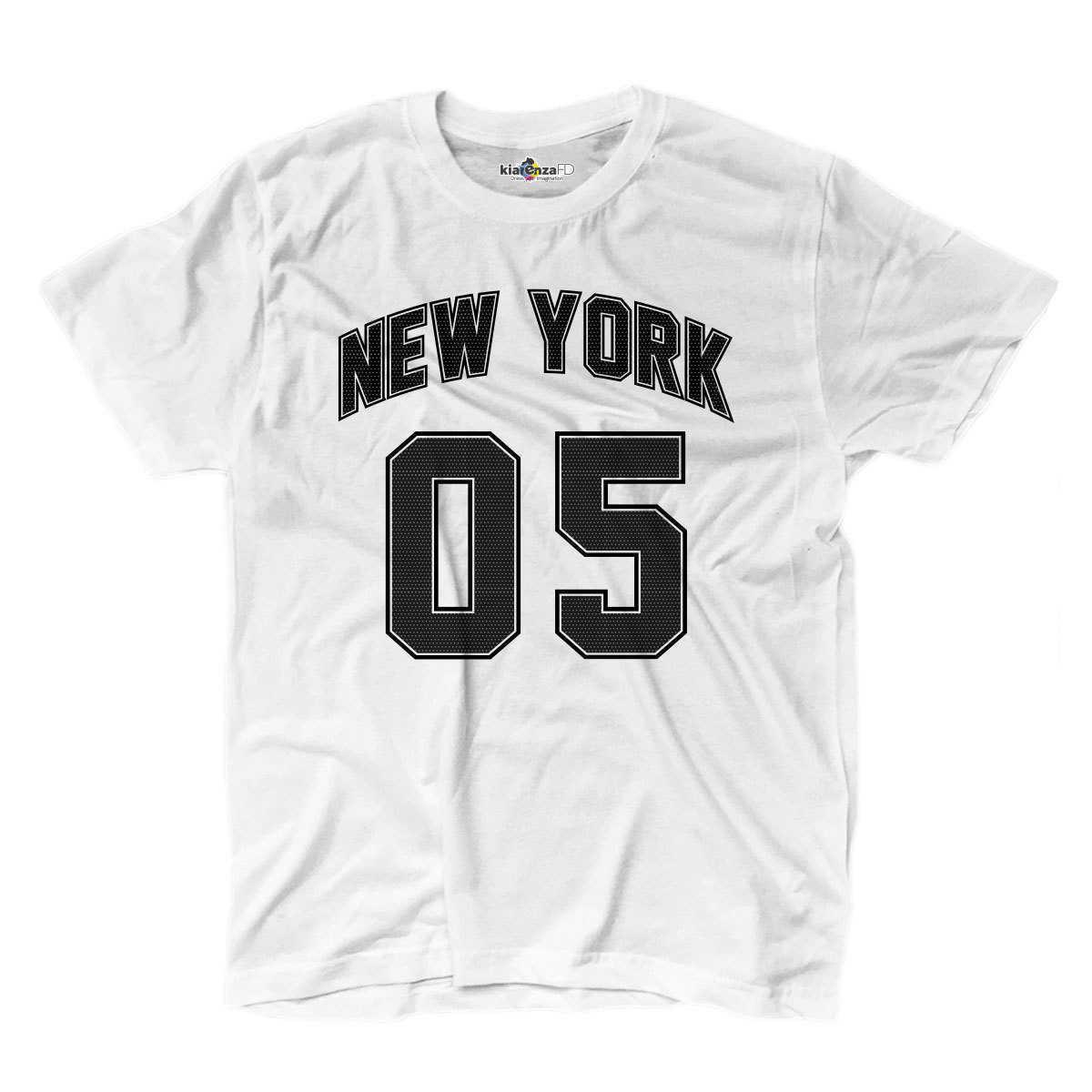 Camiseta Hombre ciudad países deportes Olimpiadas Nueva York 05 blanco S
