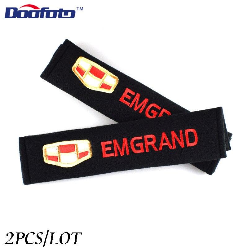 Чехол-накладка для ремня безопасности автомобиля Doofoto, защитный чехол на плечо для Geely Emgrand 7 X7 EC7 Atlas Boyue CK2 GC6, аксессуары для LC, Стайлинг