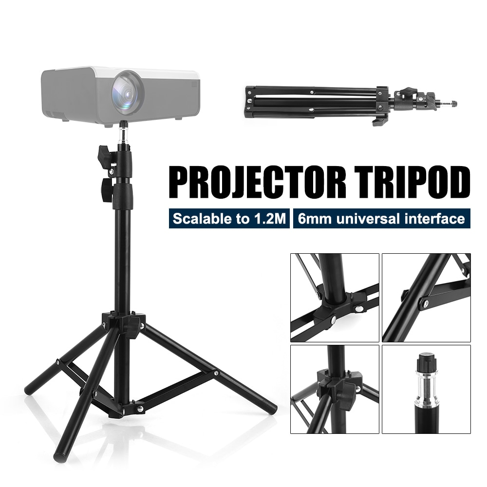 Universal Aluminum Alloy Home LCD Projector Tripod Mount Bracket Holder Stand 6mm interface Projecti