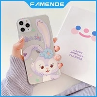 soft cute painted phone case for iphone 11 12 pro max mini xr x xs max 7 8 plus full lens protection shockproof cover case