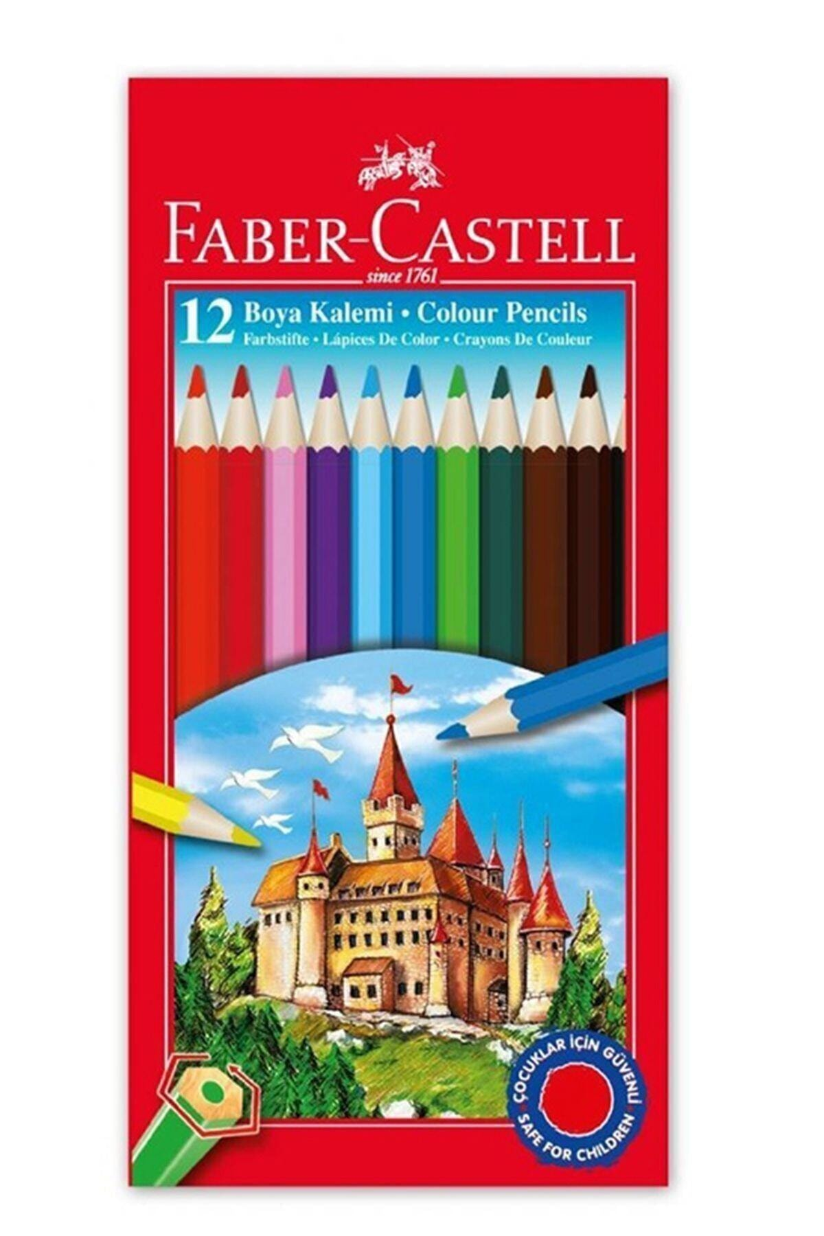 Faber Castell Crayon 12 Color Full Size School Crayons Stationery Paint Pen Color Whiteboard Pen