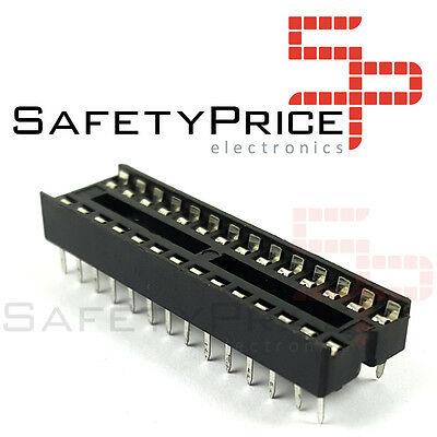 5x Zocalo integrado 28 PINs DIP 28 Socket doble contacto