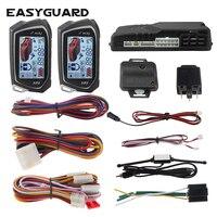 EASYGUARD auto Start stop 2 Way Car Alarm System big LCD Pager Display Turbo Timer Mode shock/vibration alarm