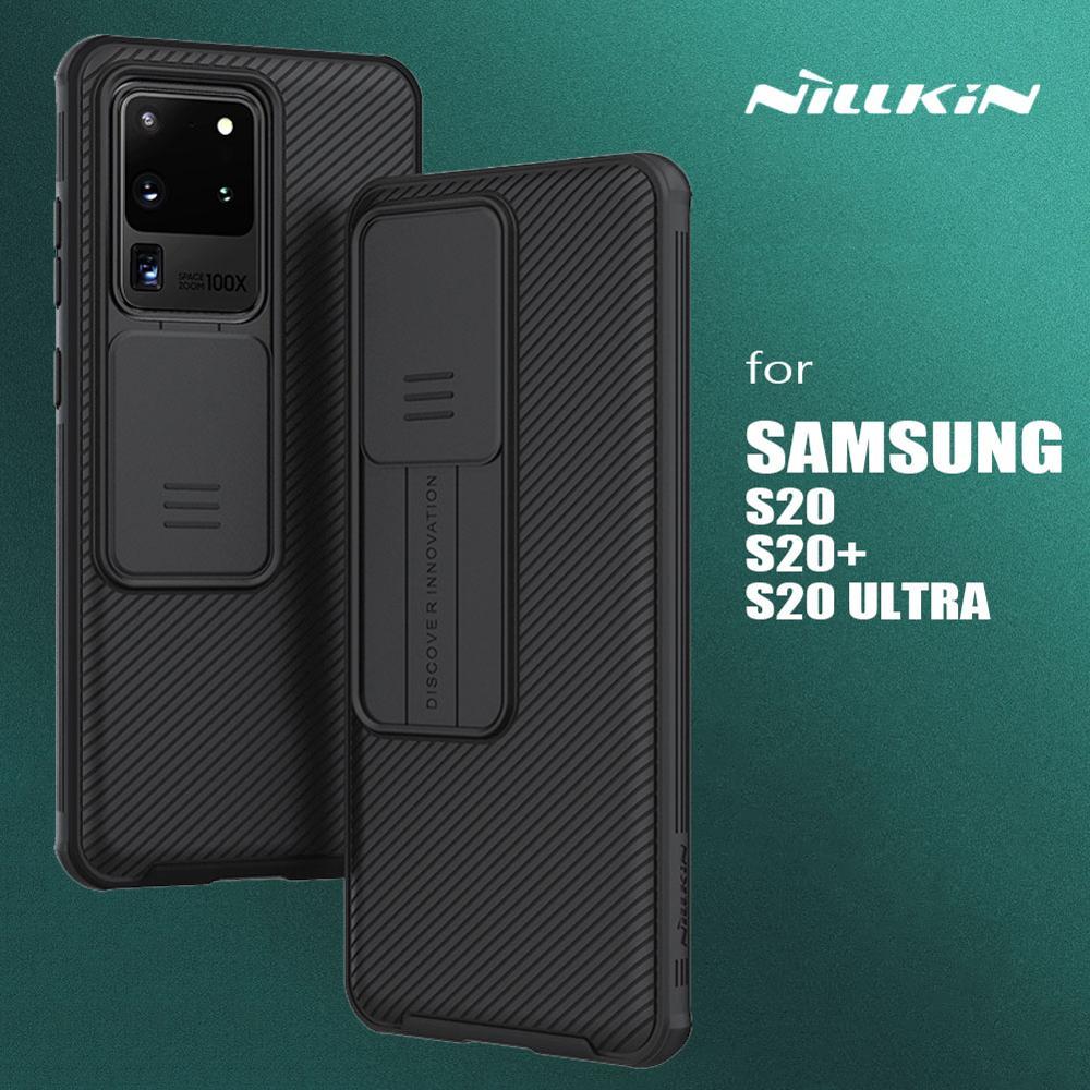 Nillkin para Samsung Galaxy S20 Ultra Camshield Tampa Deslizante Câmera Proteção Slim Caixa Do Telefone para Samsung Galaxy S20 Plus 5G Caso