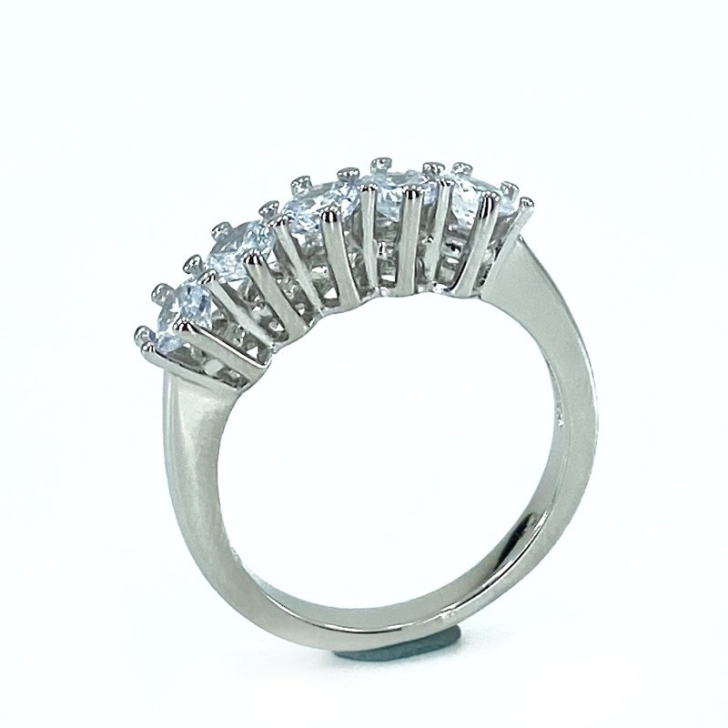 Elegant and Polite 3 mm Gold Model Dibs Silver Ring