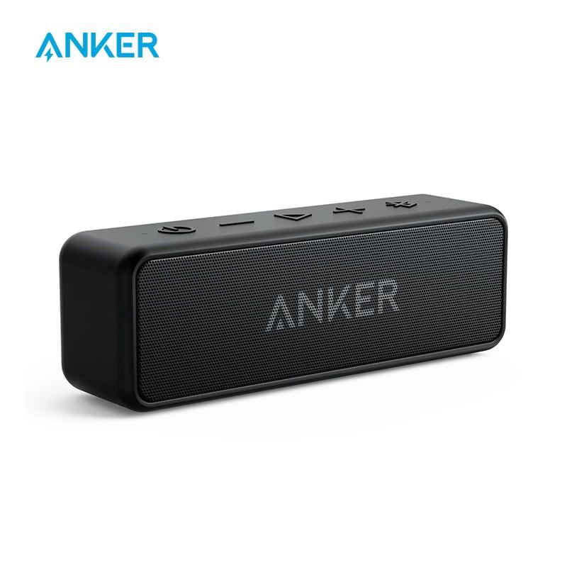 مكبر صوت لاسلكي محمول Anker Soundcore 2, anker Soundcore 2 مكبر صوت لاسلكي محمول يعمل بالبلوتوث أفضل جهير 24 ساعة لعب 66 قدم نطاق بلوتوث IPX7 مقاومة الماء
