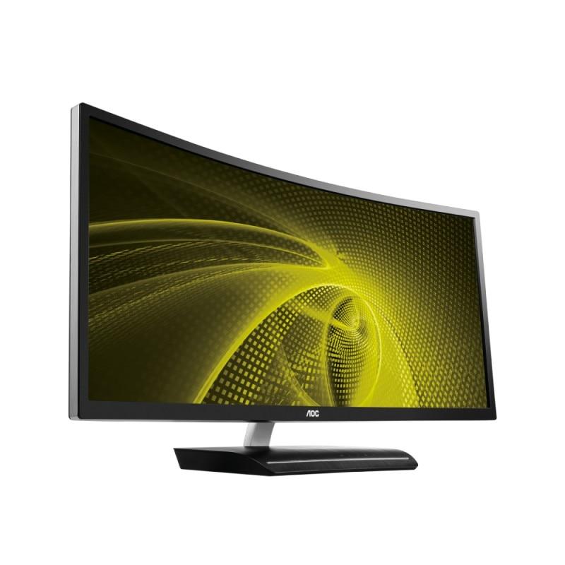 """Aoc c3583fq/bs tela para pc 88.9 cm (35 """") 2560x1080 pixels qxga led preto, prata"""