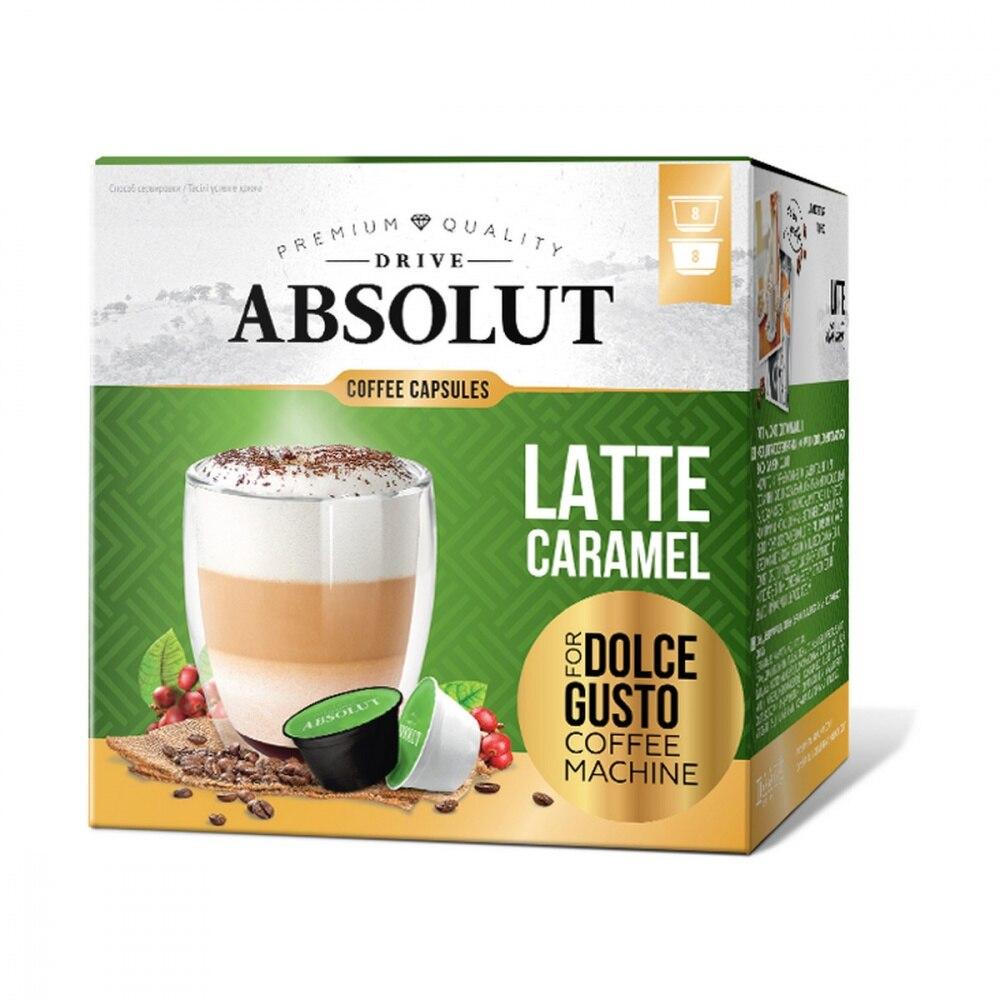"""Kaffee Absolut stick """"latte karamell"""", kapseln für kaffee maschine Dolce Gusto, 16 kapseln"""