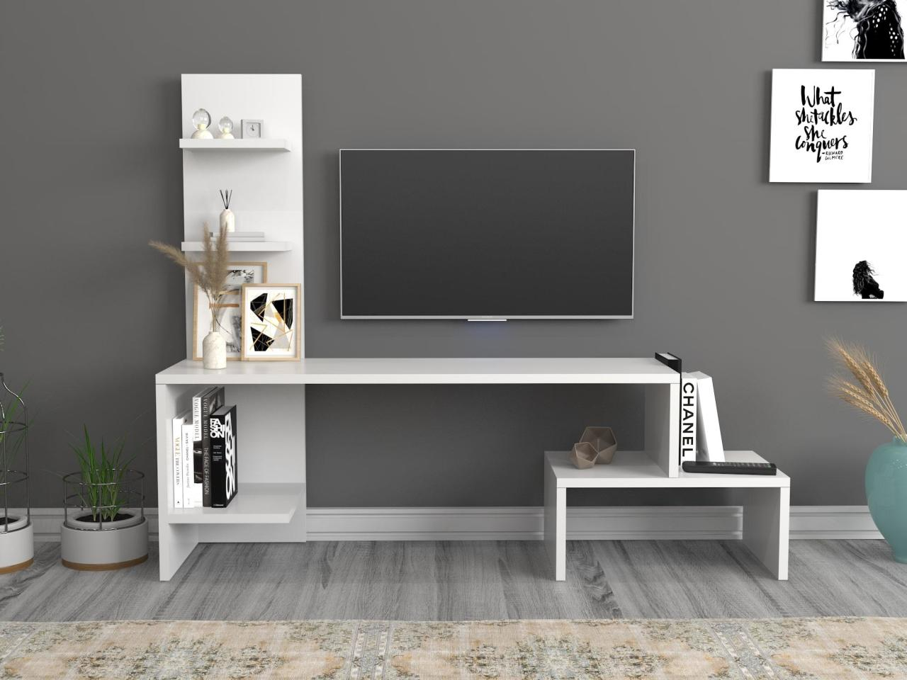 Home Furniture Tv Furniture Living Room Furniture TV Table TV Cabinet Sara Tv Stand White