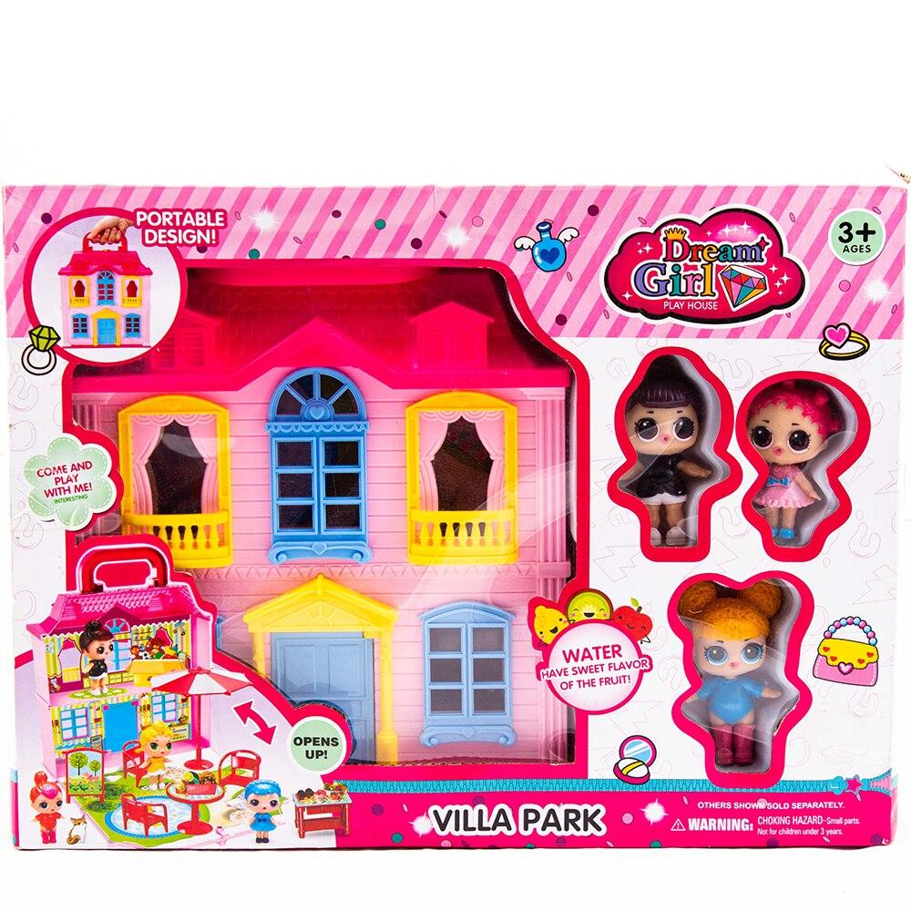 Juego de accesorios para muñecas, casa para niños y niñas, juguetes para niños, casa para muñecas