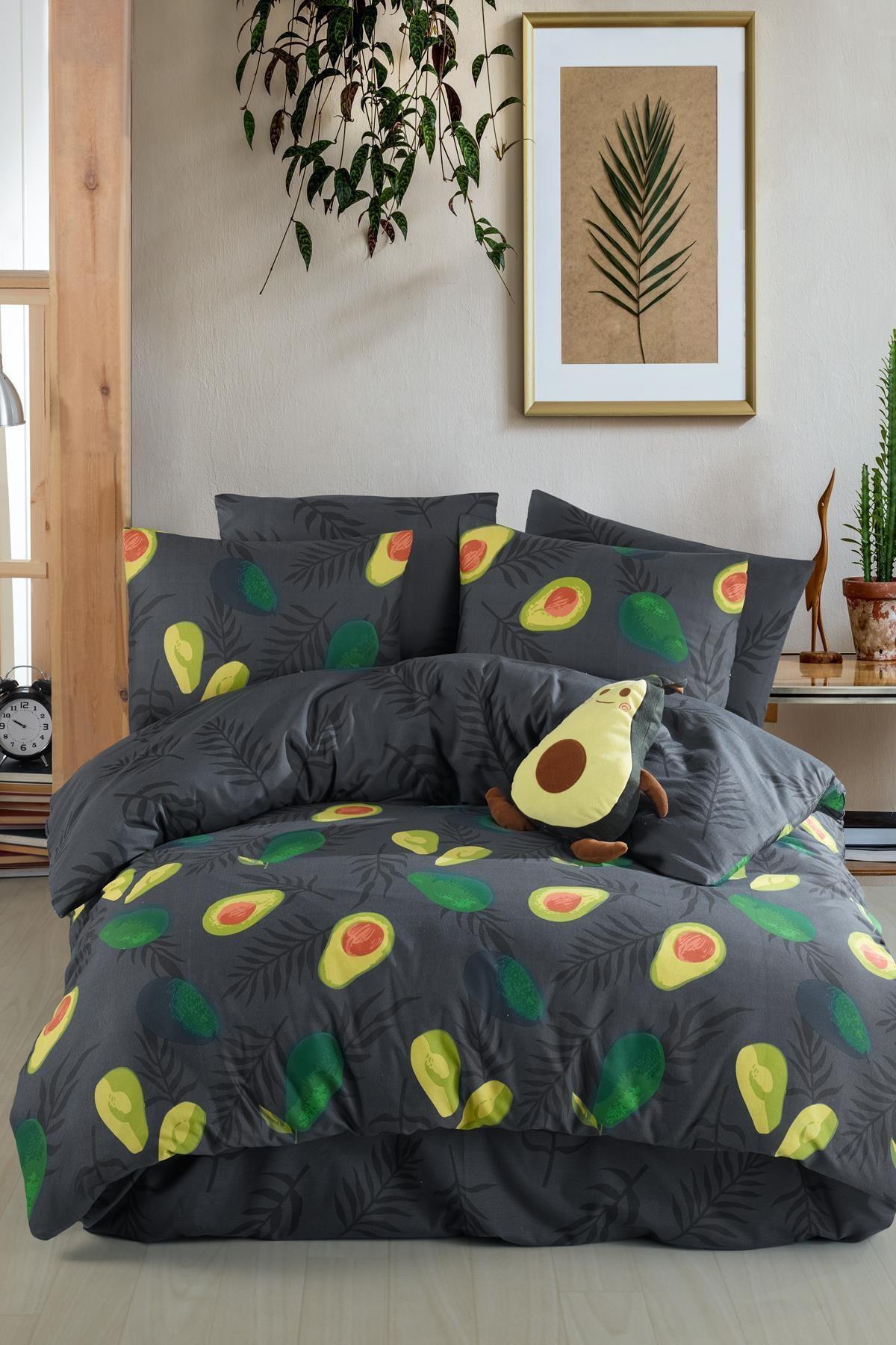 فوشيا-طقم غطاء لحاف أفوكادو مزدوج ، قطن 100% ، وردي غامق ، للبالغين ، تركي