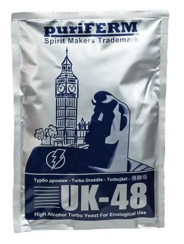 Alcohol levadura puriferm Reino Unido-48 Turbo 128g