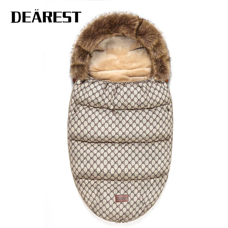 Stroller Sleeping Bag Winter Warm Sleepsack Windproof For Infant Wheelchair Envelopes For Baby Footmuff Newborn Sleepsacks
