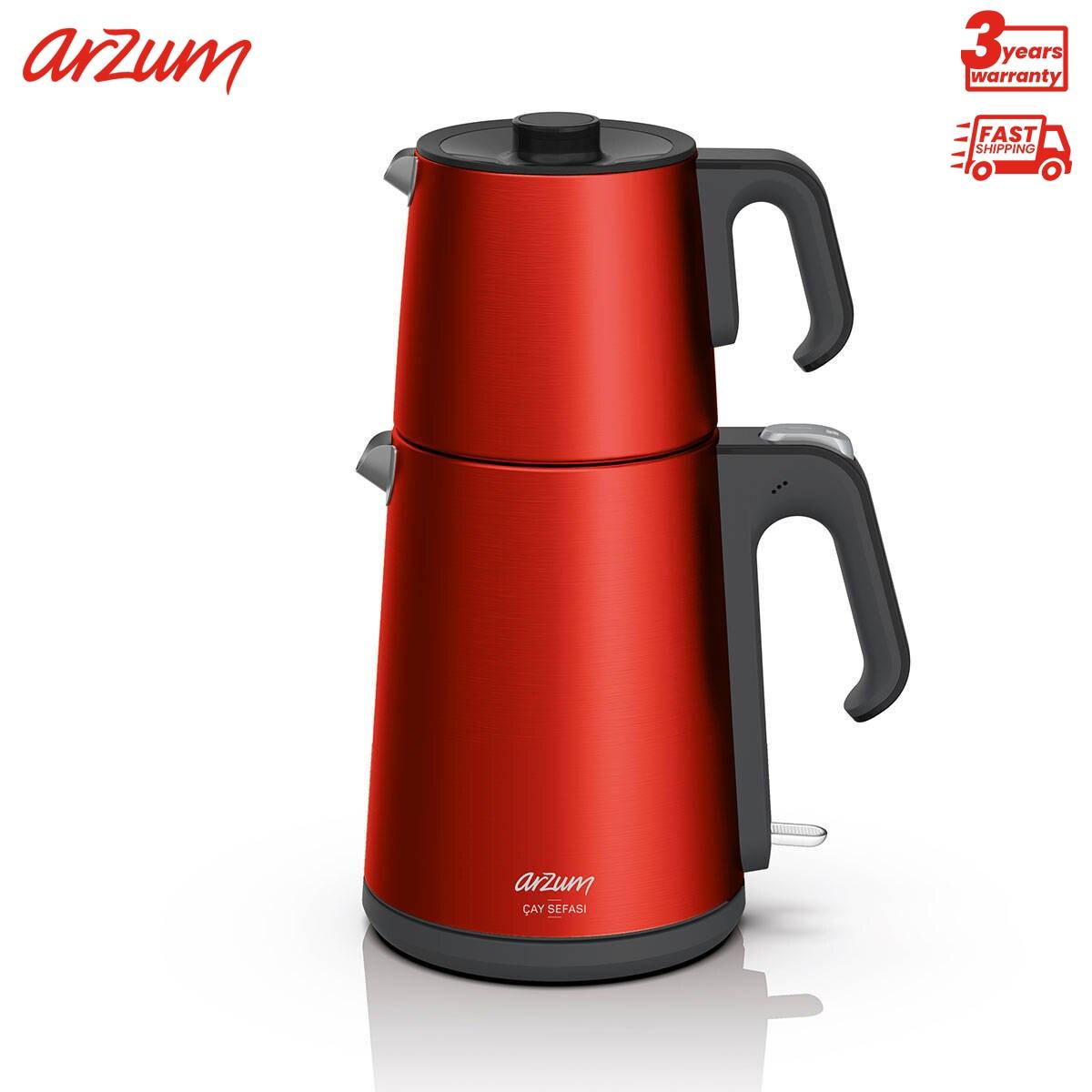 Arzum تتمتع آلة الشاي الشاي 1.8 لتر غلاية الفولاذ المقاوم للصدأ سلامة منهجية الشاي تصفية التلقائي آلة غلي الماء