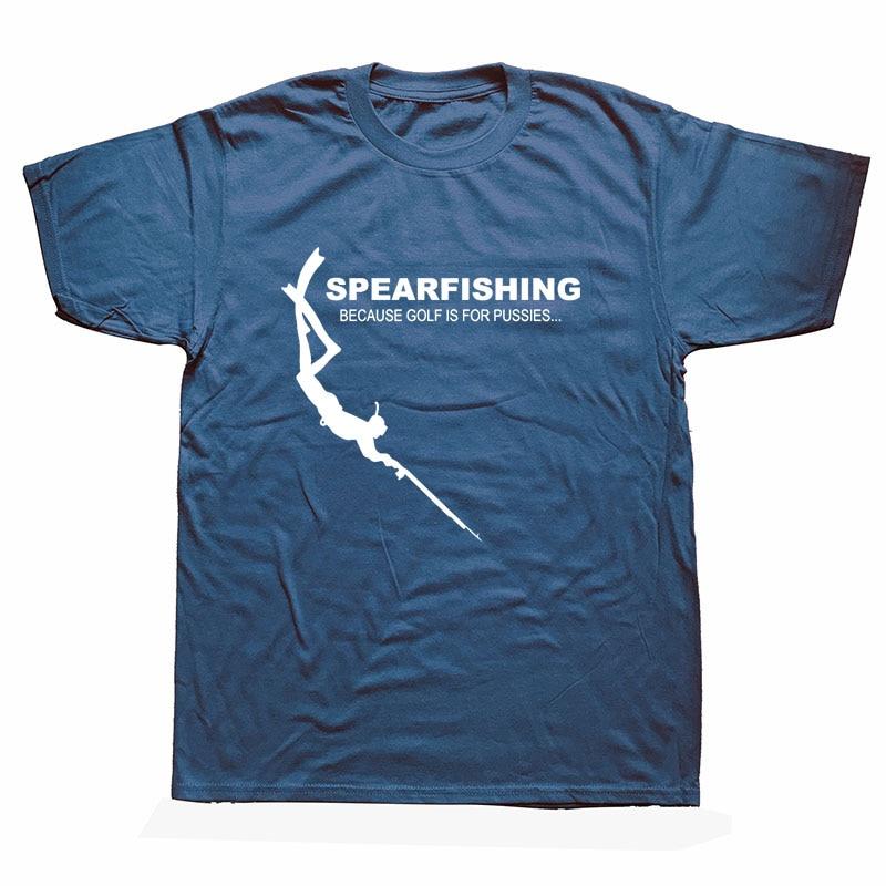 Funny Spearfishing Scuba Diver T Shirts Men Summer Cotton Harajuku Short Sleeve O Neck Streetwear Black T-shirt