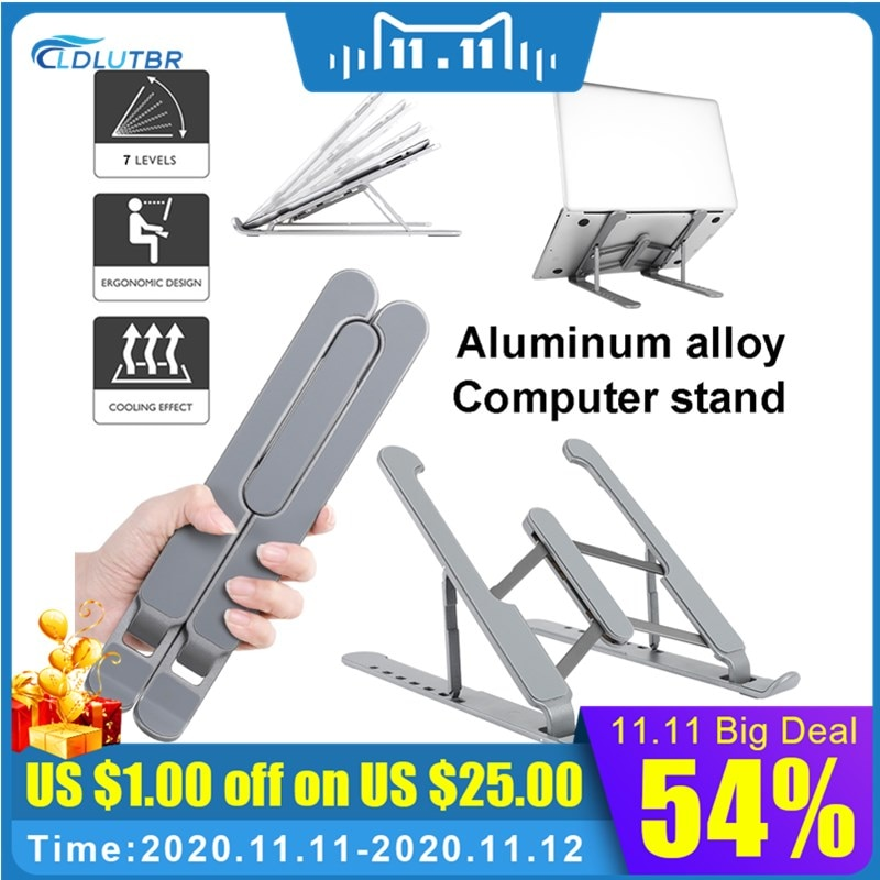 Portable Adjustable Aluminum Laptop Tablet Stand Accessories Desktop Holder Mounts Support For Notebook Macbook Pro Air IPad Pro