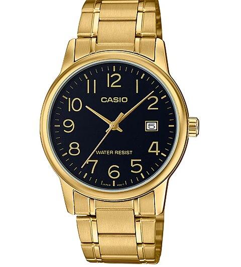 Casio colección LTP-V002G-1B - Reloj analógico para mujer y hombre de moda y casual de color dorado y negro