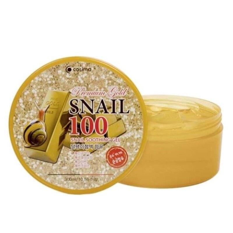 Успокаивающий увлажняющий гель премиум класса Gold Snail 100% корейская косметика для