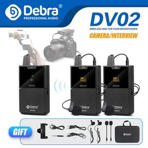 Беспроводной петличный микрофон Debra серии DV UHF с функцией аудио монитора для смартфонов DSLR камер Веб-трансляций