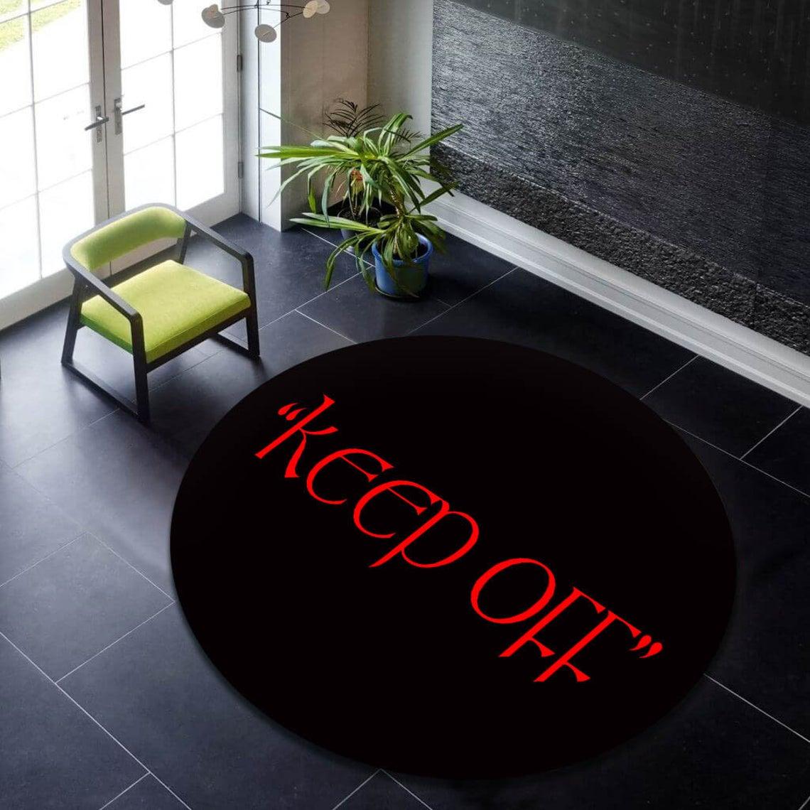 حافظ على نمط أسود سجادة مستديرة ، سجادة دائرية حمراء ، سجادة منطقة دائرة ، سجادة مستديرة حديثة ، سجادة شعبية ، ديكور المنزل