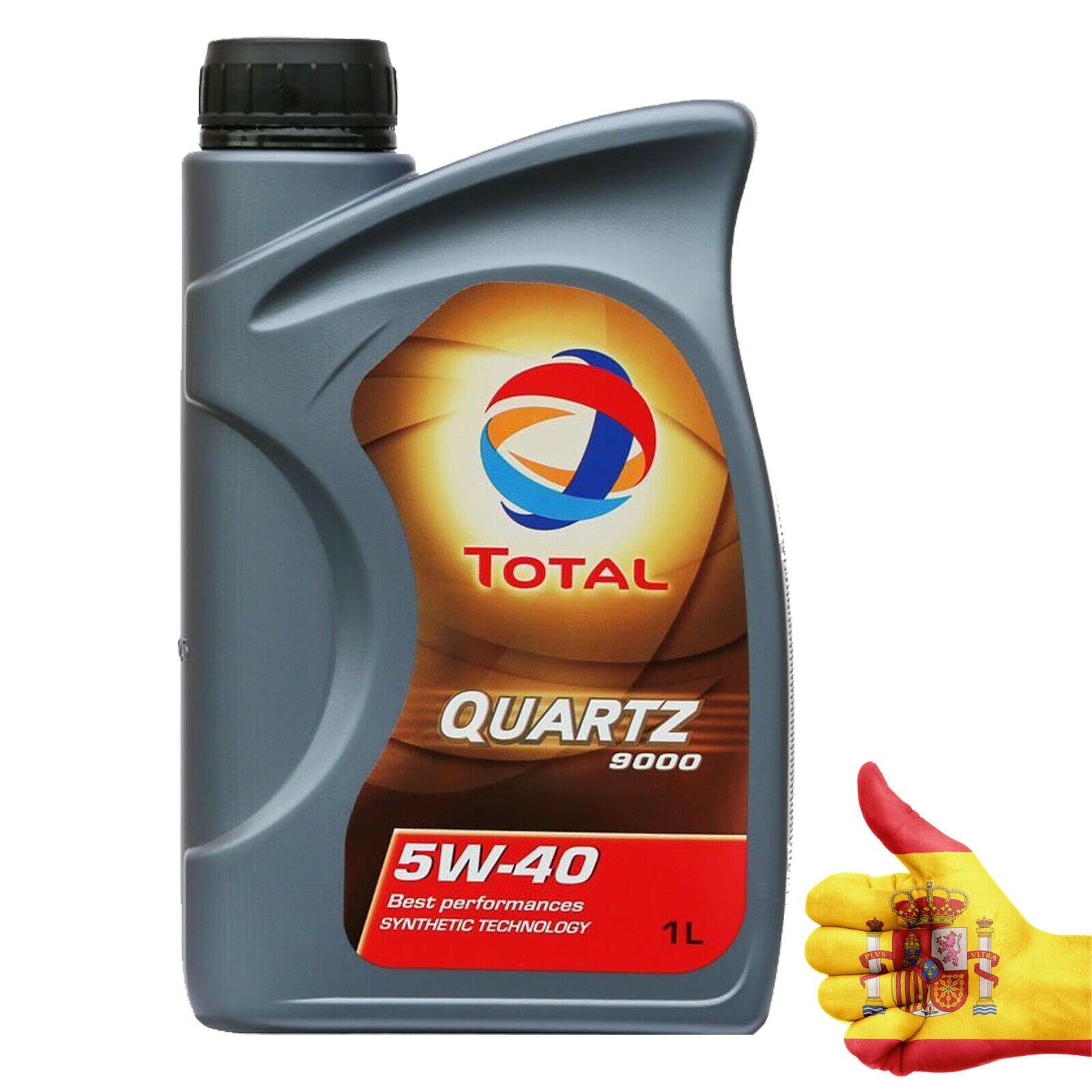 LUBRICANTE TOTAL QUARTZ 9000 Sintético SAE 5W40 Aceite de Motor 1 Litro 1L TOT008