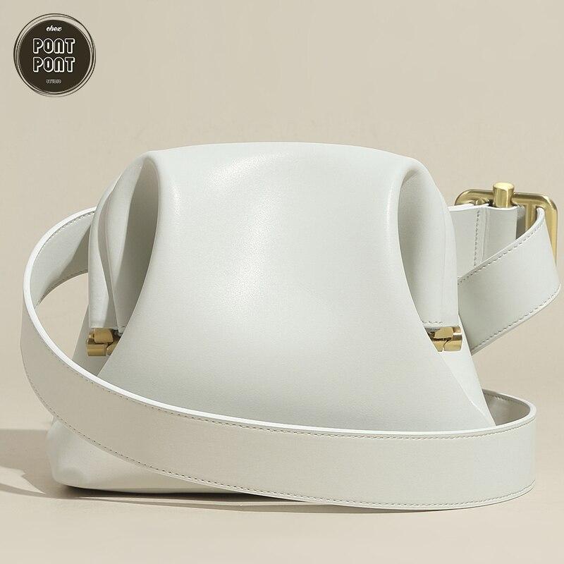 حقيبة يد نسائية من الجلد الطبيعي ، حزام كتف ، حزام خصر ، مصمم فاخر ، موضة ، شيك ، مجموعة جديدة