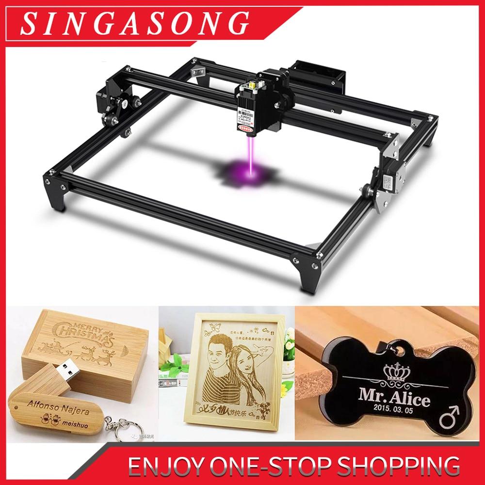 CNC laserový gravírovací stroj o rozměrech 300 x 400 mm, velká plocha 2,5 / 5,5 W, řezací stroj na řezání dřeva / kůže / kovu / akrylu