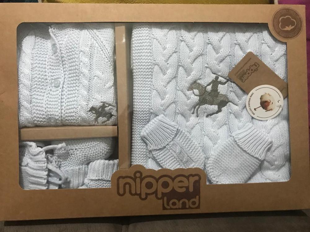 Caramell Knitted brand newborn set
